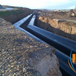 Uso degli aggregati di Granu-Est nei lavori di costruzione del trasferimento dell'acqua dalla diga di OuedAthmania